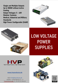 Low Voltage PSU - Germany